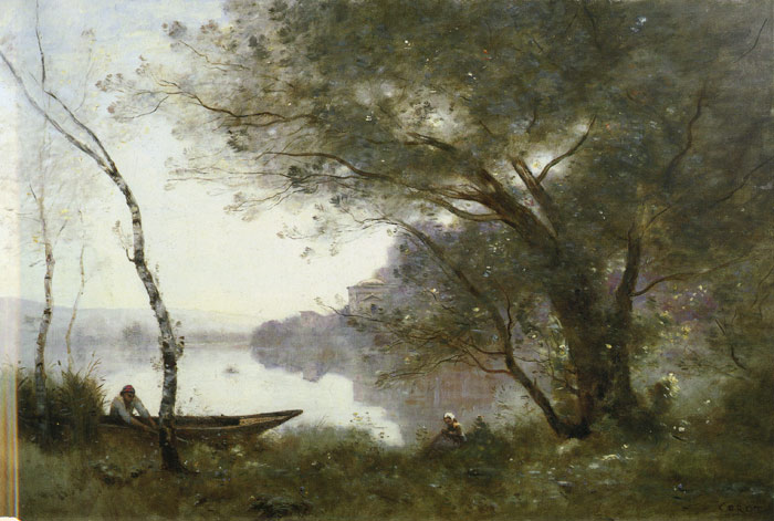 Paintings Reproductions Corot, Jean-Baptiste -Camille The Bootman of Mortefontaine, 1870