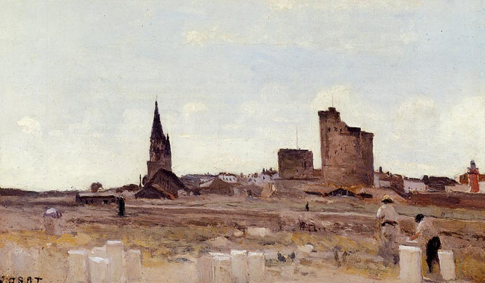Paintings Reproductions Corot, Jean-Baptiste -Camille La Rochelle - Quarry near the Port Entrance, 1851