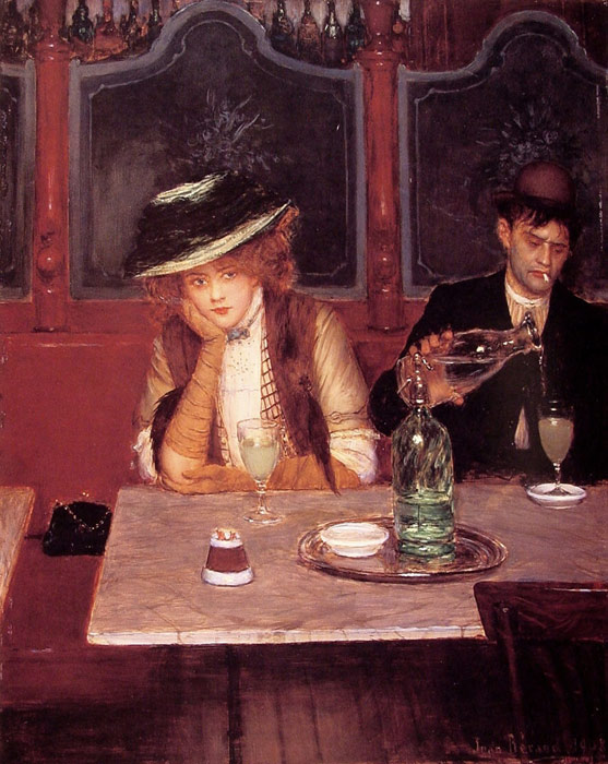 Jean Beraud Reproductions-The Drinkers, 1908
