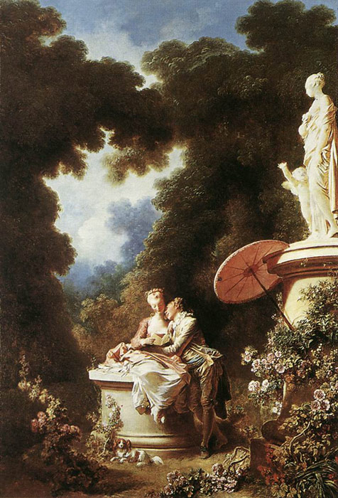 Paintings Reproductions Fragonard, Jean- Honore The Confession of Love, 1771