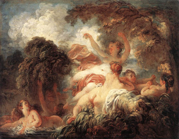 Paintings Reproductions Fragonard, Jean- Honore The Bathers, 1772-1775