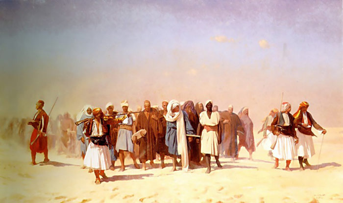 Paintings Reproductions Gerome, Jean-Leon Egyptian Recruits Crossing the Desert, 1857
