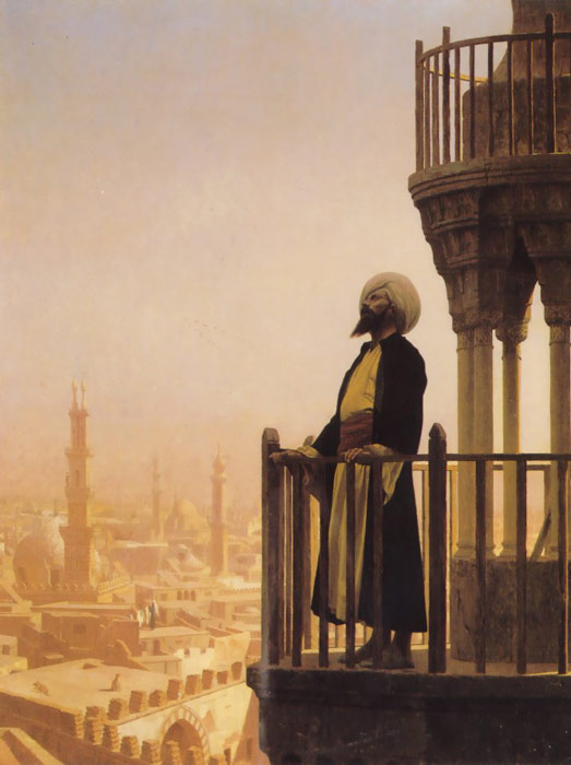 Paintings Reproductions Gerome, Jean-Leon The Muezzin, 1866