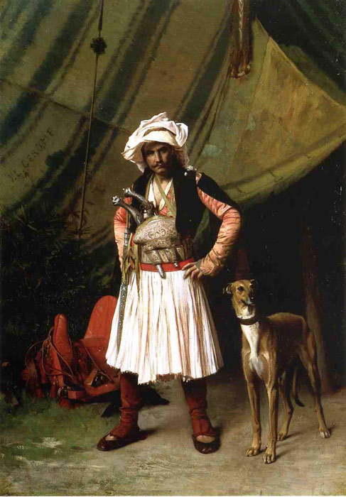 Paintings Reproductions Gerome, Jean-Leon Bashi-Bazouk and His Dog, 1870