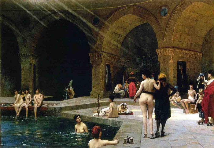 Paintings Reproductions Gerome, Jean-Leon The Grand Bath at Bursa , 1885