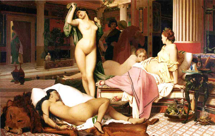 Grecian Interior, Le Gynecee, 1850 Gerome, Jean-Leon Painting Reproductions
