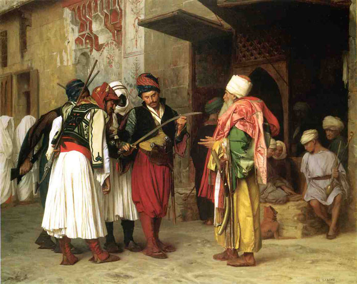 Paintings Reproductions Gerome, Jean-Leon Old Clothing Merchant in Cairo aka Roaving Merchant in Cairo, 1866