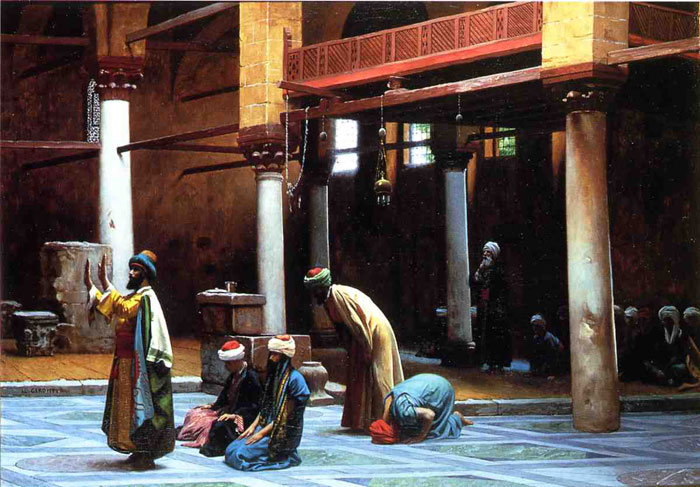 Paintings Reproductions Gerome, Jean-Leon Prayer in a Mosque, 1892