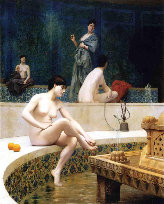 The Harem Bathing , 1901	 Gerome, Jean-Leon Painting Reproductions