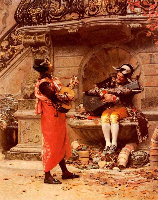 Jehan Georges Vibert Reproductions-The Serenade