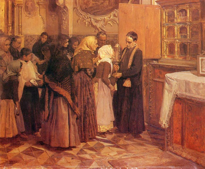 El beso de la reliquia [Kissing the Relic], 1893 Sorolla y Bastida, Joaquin Painting Reproductions