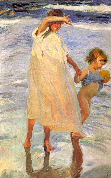Joaquin Sorolla y Bastida Reproductions-The Two Sisters, 1909
