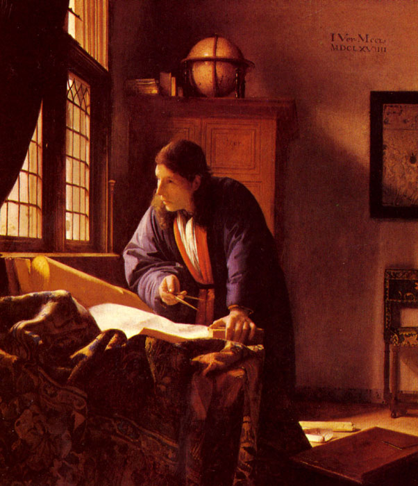Johannes Vermeer Reproductions-The Geographer, c.1668