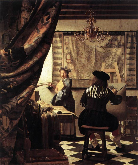 Johannes Vermeer Reproductions-The Art of Painting, 1666-1668