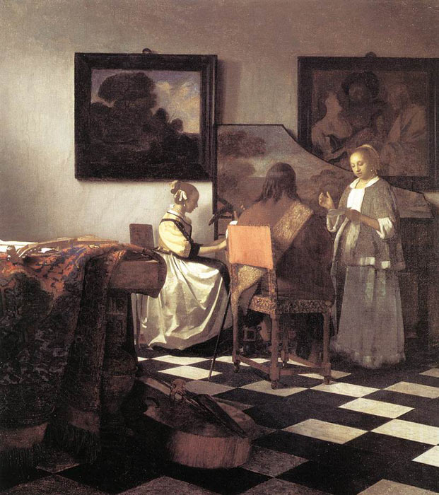 Johannes Vermeer Reproductions-The Concert, 1665-1666