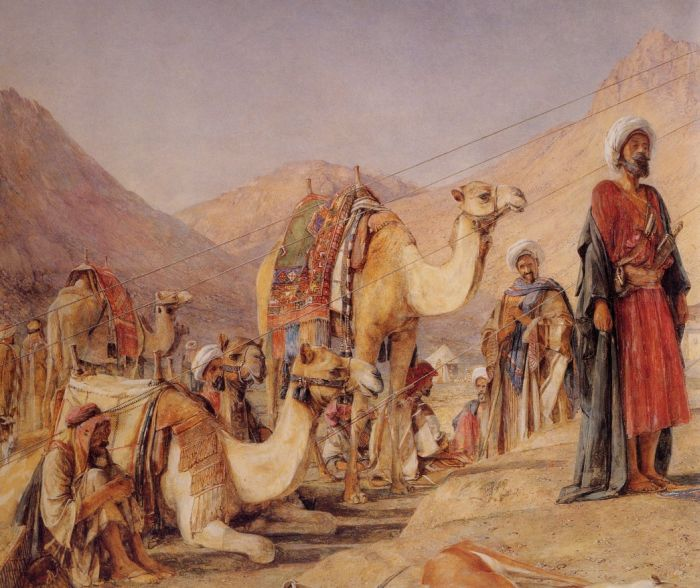 John Frederick Lewis Reproductions-Frankish Camp in the Desert of Mt Sinai