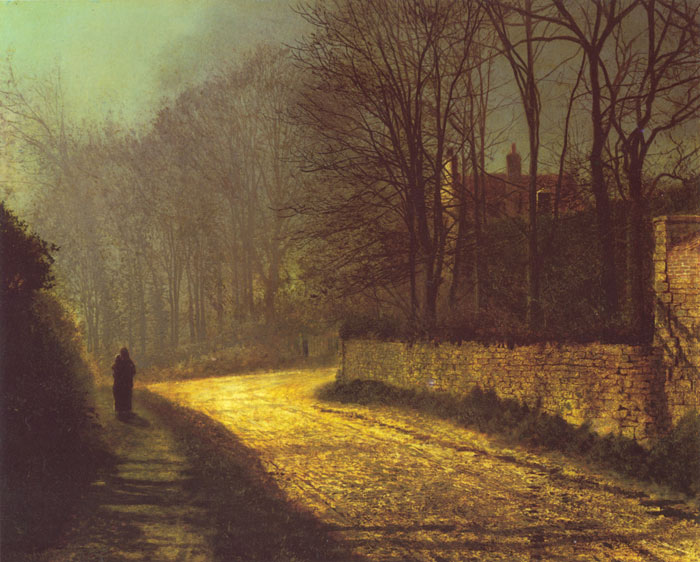 John Atkinson Grimshaw Reproductions-The Lovers