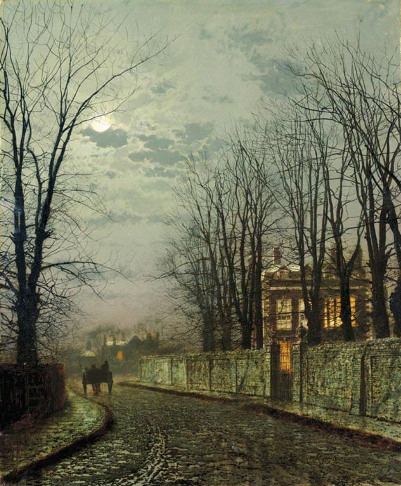Paintings Reproductions Grimshaw, John Atkinson A Wintry Moon, 1886