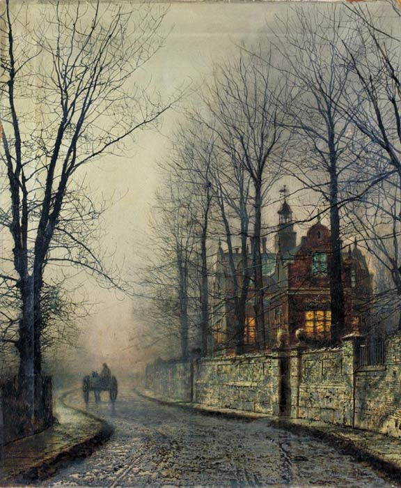 Paintings Reproductions Grimshaw, John Atkinson November Moonlight