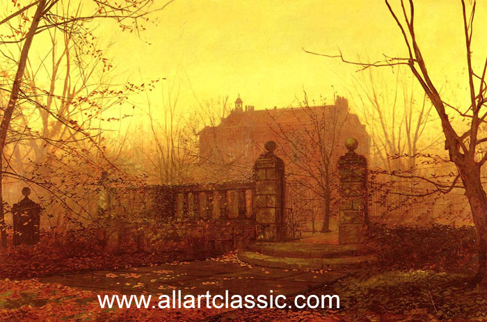 Paintings Reproductions Grimshaw, John Atkinson Autumn Morning