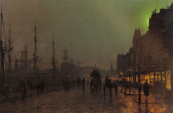 John Atkinson Grimshaw Reproductions-Gourock, Near The Clyde Shipping Docks