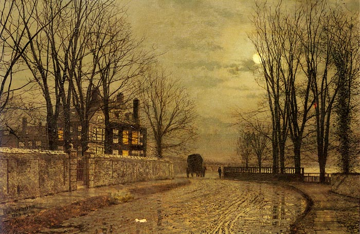 John Atkinson Grimshaw Reproductions-The Turn of the Road, 1883