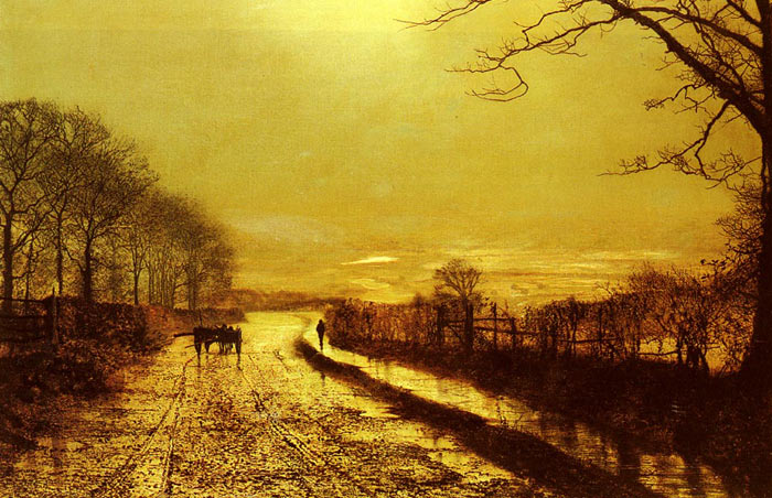 Paintings Reproductions Grimshaw, John Atkinson Wharfedale, 1872
