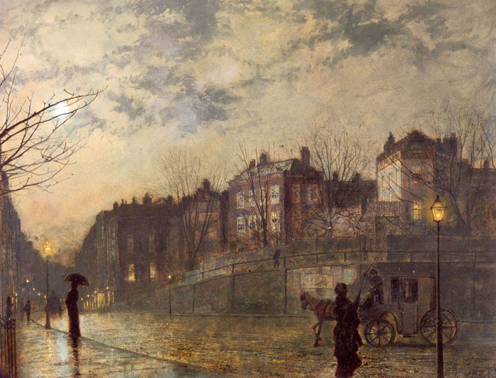 John Atkinson Grimshaw Reproductions-Hampstead, 1881