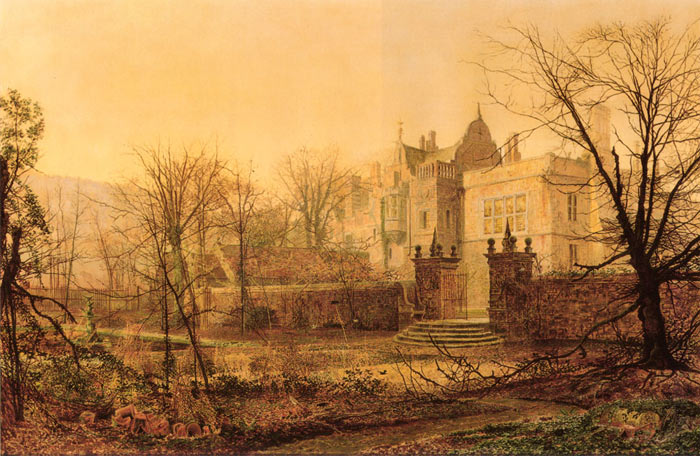 Paintings Reproductions Grimshaw, John Atkinson Knostrop Hall, Early Morning, 1870
