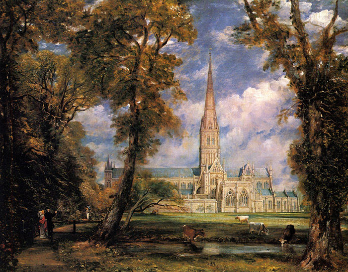 Paintings Reproductions Constable, John Salisbury Cathedral from the Bishops' Grounds, 1823