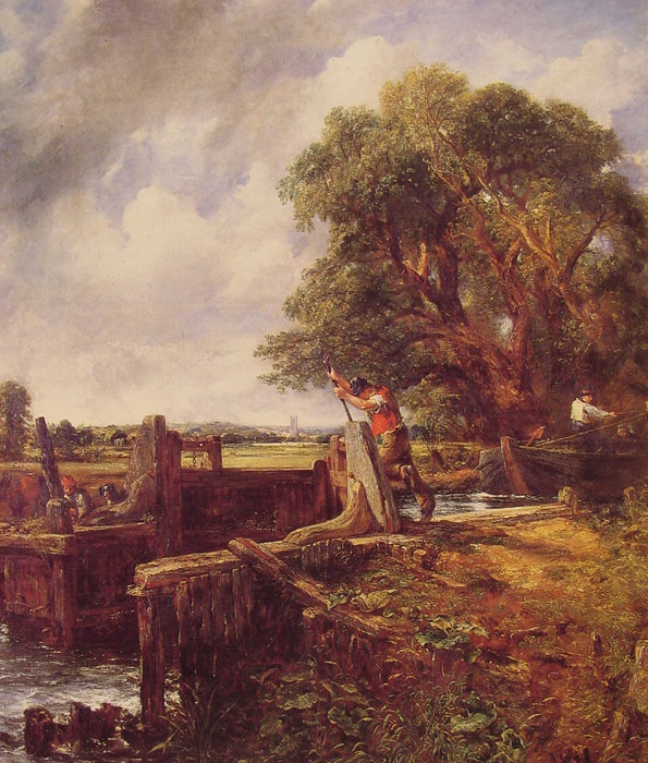 Paintings Reproductions Constable, John A Boat Passing a Lock, 1823-1825