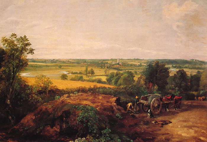 Paintings Reproductions Constable, John View of Dedham, 1814
