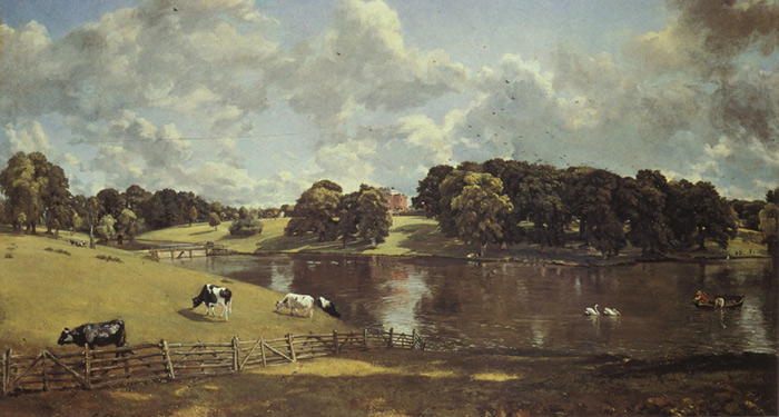 Paintings Reproductions Constable, John Wivenhoe Park, Essex, Wohnsitz des Major-Generals Rebow, 1816