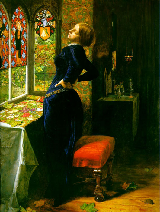 Paintings Reproductions Millais, John Everett Mariana in the Moated Grange,  1850-1851