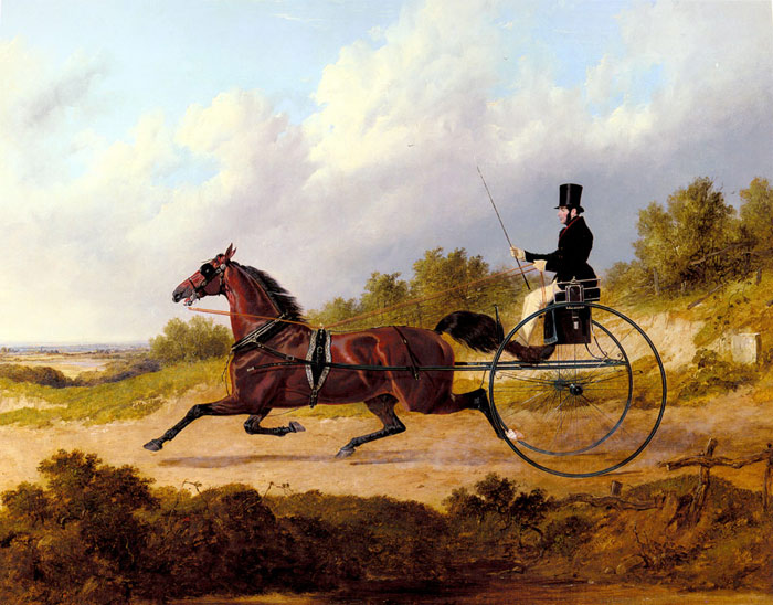 John Frederick Herring Snr Reproductions-The Famous Trotter Confidence Drawing A Gig, 1842