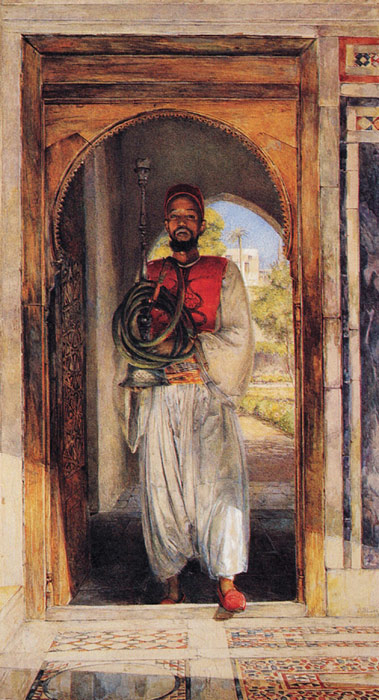John Frederick Lewis Reproductions-The Pipe Bearer