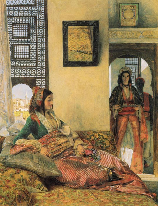 John Frederick Lewis Reproductions-Life in the Harem, Cairo