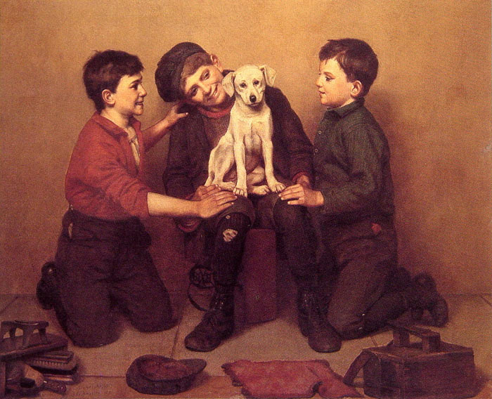 John George Brown Reproductions-The Foundling, 1907