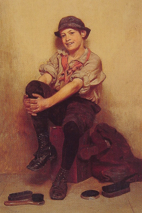 John George Brown Reproductions-Taking It Easy