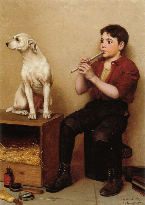 Paintings Reproductions Brown, John George Music Hath No Charms, , 1907