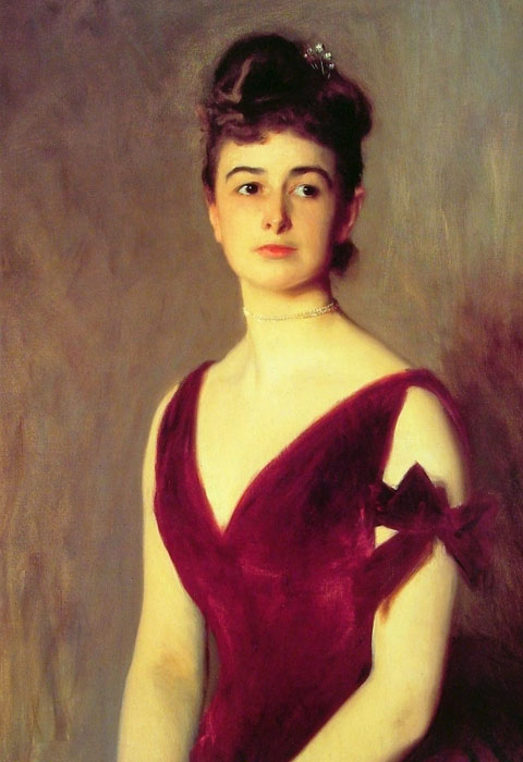 John Singer Sargent Reproductions-Mrs Charles E. Inches,1887