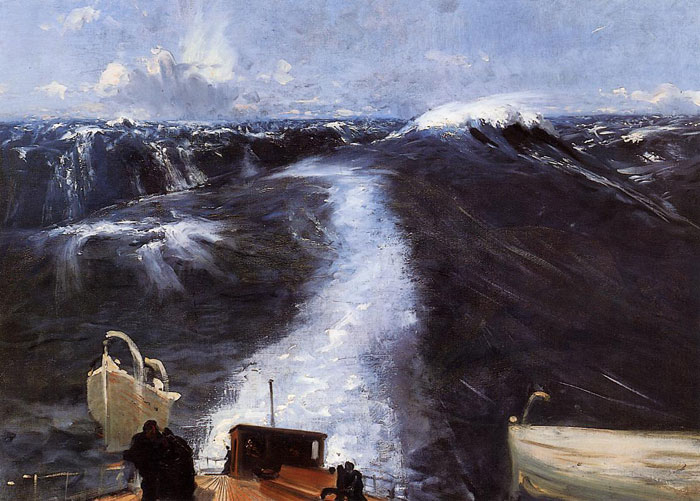 Paintings Reproductions Sargent, John Singer Atlantic Storm, 1876