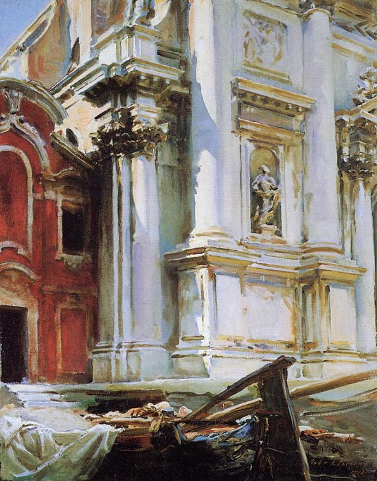 Paintings Reproductions Sargent, John Singer Church of St. Stae, Venice, 1913