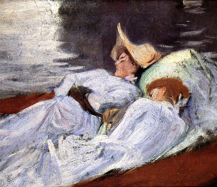 In a Punt , 1889	 Sargent, John Singer Painting Reproductions