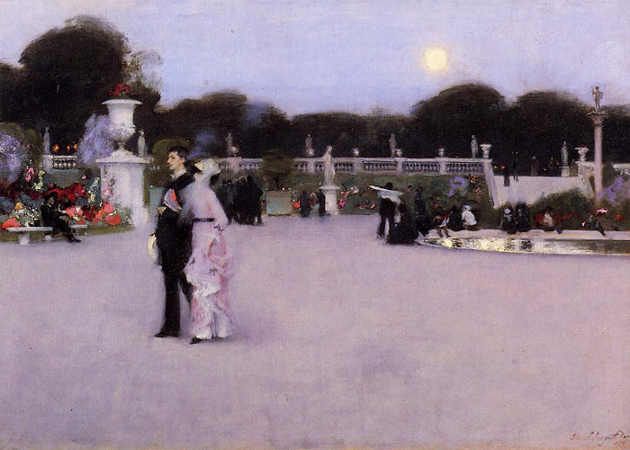 Paintings Reproductions Sargent, John Singer In the Luxembourg Garden , 1879