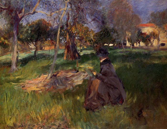 Paintings Reproductions Sargent, John Singer In the Orchard , 1886