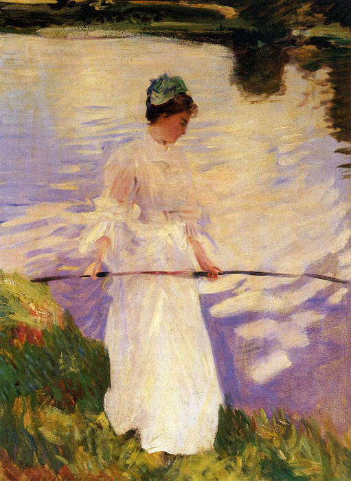 John Singer Sargent Reproductions-Violet Fishing , 1889