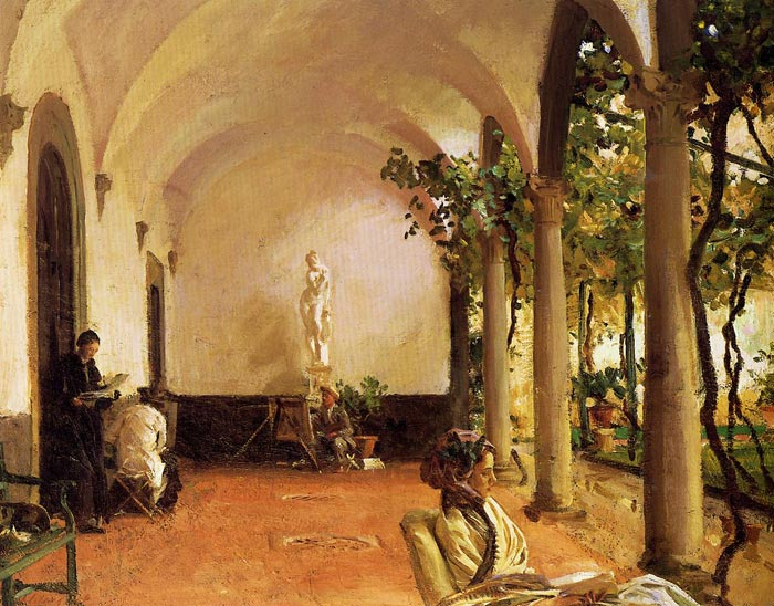 John Singer Sargent Reproductions-Villa Torre Galli: The Loggia , 1910