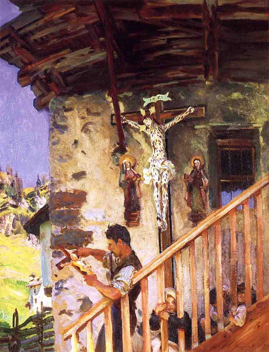 John Singer Sargent Reproductions-A Tyrolese Crucifix, 1915