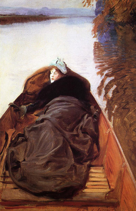 Paintings Reproductions Sargent, John Singer Autumn on the River,1889